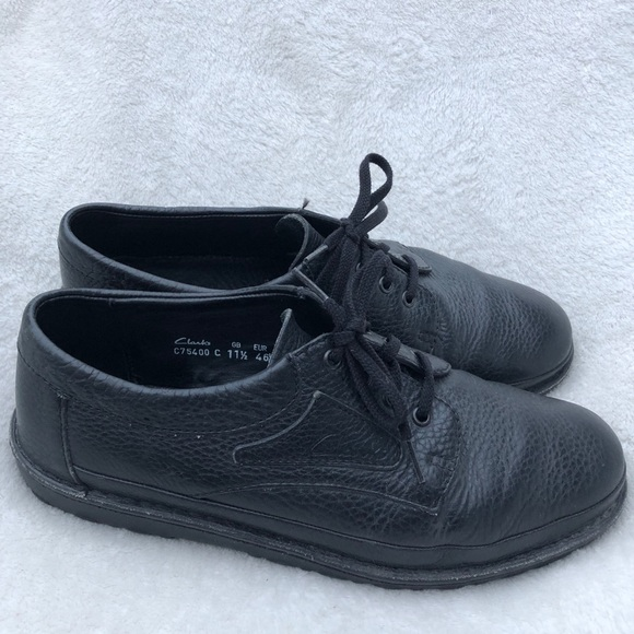 Clarks Mens Black Leather Casual Shoes